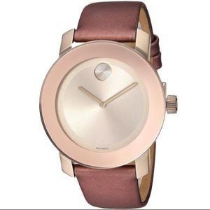 🆕 Movado Women's Bold Rose Gold Watch MSRP $495